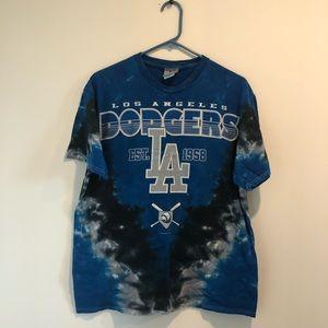 Los Angeles Dodgers Tie-Dye Shirt - Large